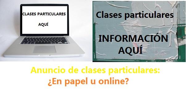 ANUNCIO DE CLASES PARTICULARES
