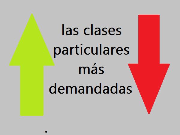 las clases particulares más demandadas
