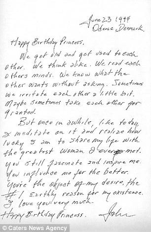 Carta Johnny Cash a June Carter