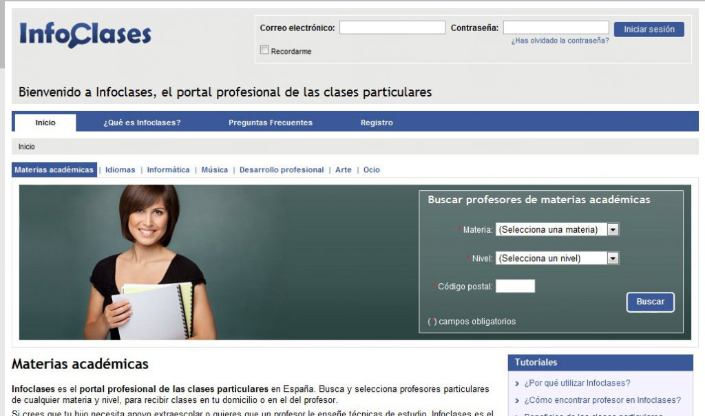 infoclases clases particulares idiomas