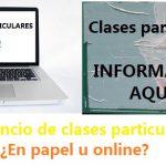 Anuncio clases particulares: ¿En papel u online?