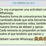 Debatir en tiempos de WhatsApp