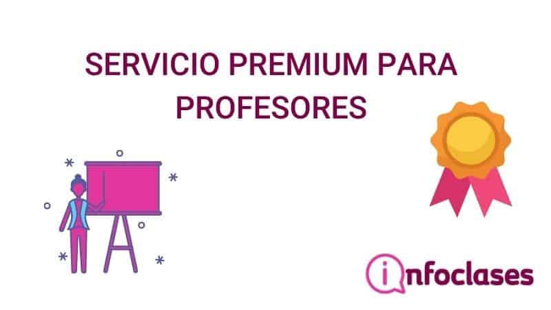 Servicio PREMIUM para profesores