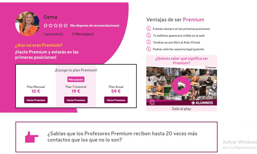 Portal premium Infoclases
